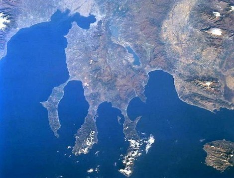 Chalkidiki ze satelitu