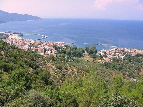Pohled na město Limenas na Thassosu